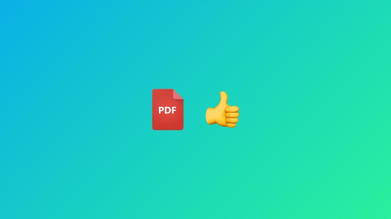 Advantages of PDF